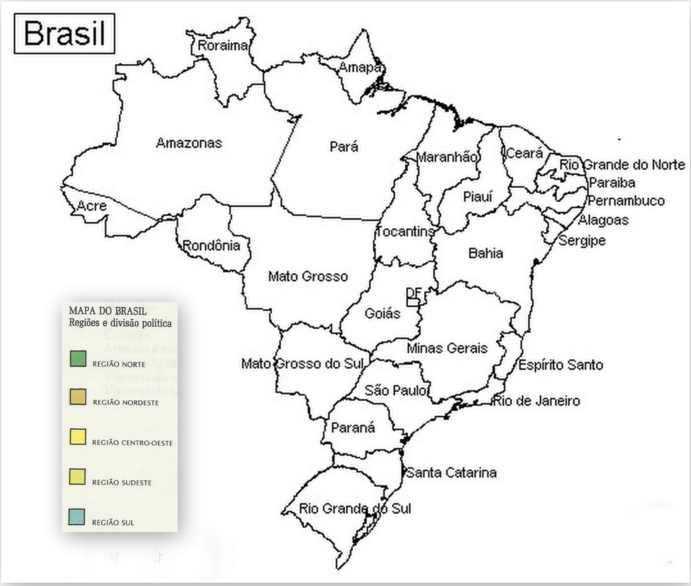 mapa brasil para colorir minuto ligadominuto ligado