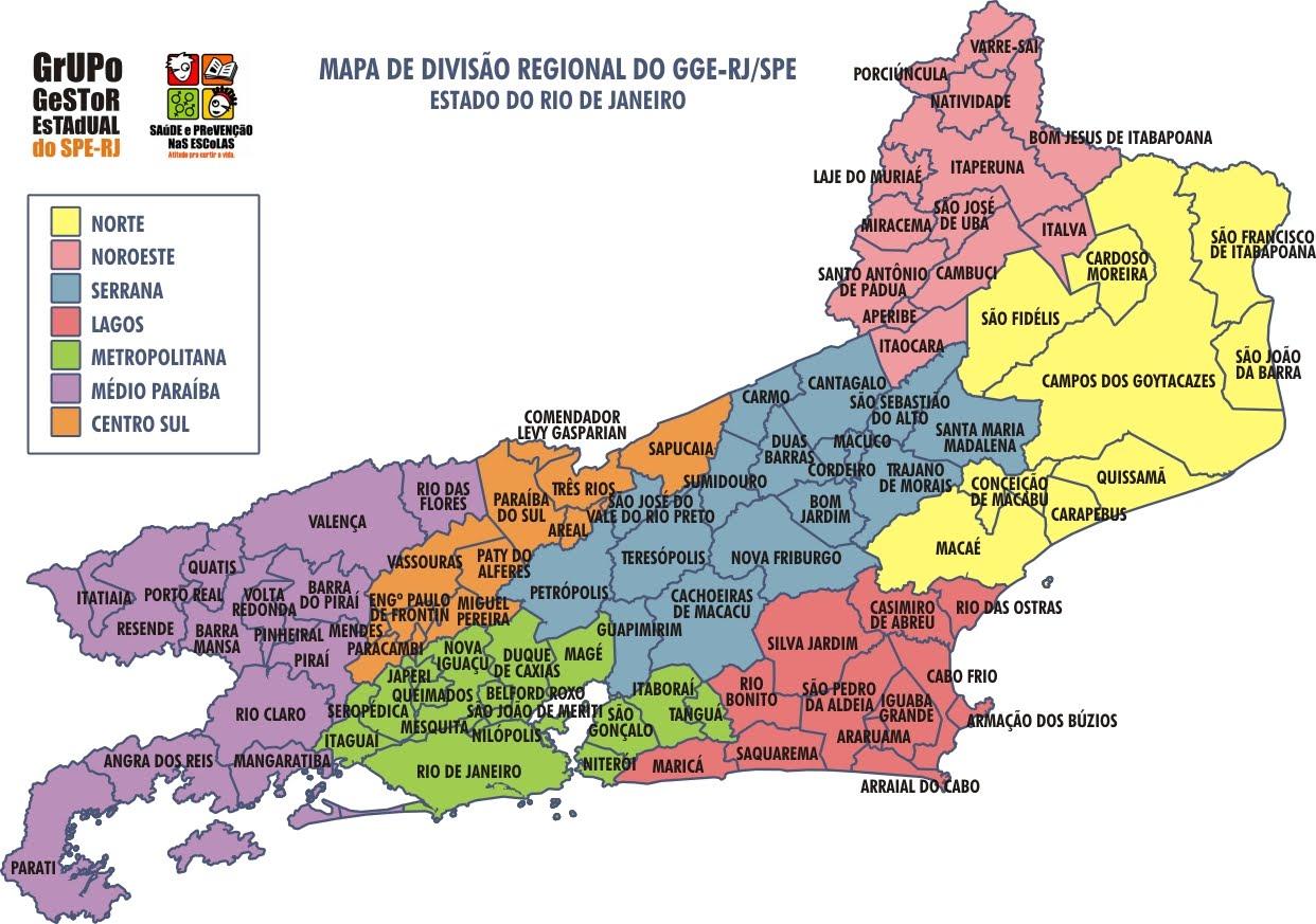 Resultado de imagem para mapa do rio de janeiro atualizado