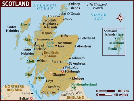mapa da escocia Mapa da Escócia: conheça o paísMinuto Ligado mapa da escocia