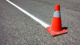 Use cone de sinalização corretamente